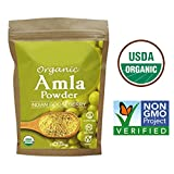Certified Organic AMLA Powder 3.5 Oz, USDA Organic. Natural Vitamin C...