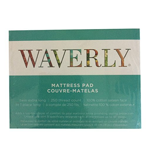 White 250-Thread Count Waverly Mattress Pad All Sizes