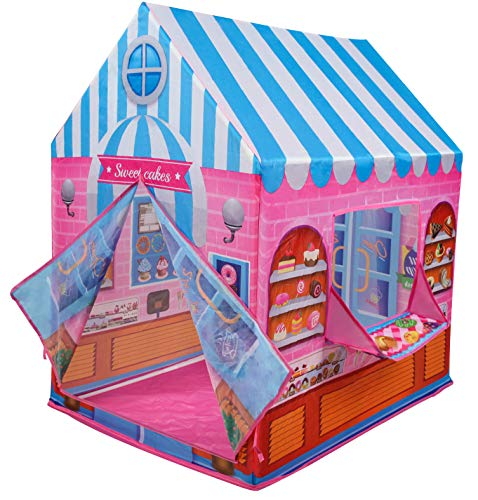 Kiddie Play Candy Playhouse Kids Play Tent for Boys & Girls Indoor Outdoor Toy