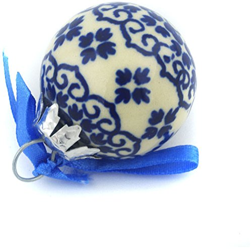 Polish Pottery 2-inch Ornament Christmas Ball (Kuchen And Kisses Theme) + Certificate of Authenticity