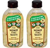 Cheap Monoi Tiki Tahiti Sandalwood Coconut Oil (Pack of 2), Scented With Fresh Handpicked Tiare Flowers, 100% Made in Tahiti, 4 fl. oz.