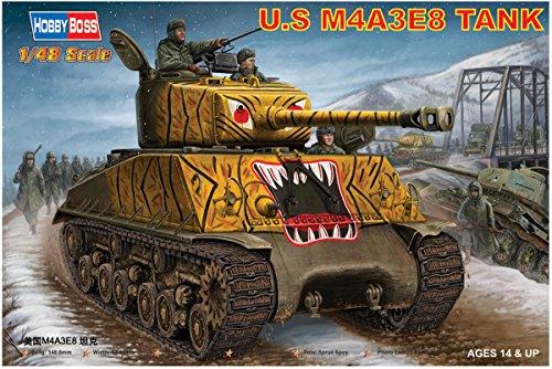 (Hobby Boss US M4A3 E8 Tank Vehicle Model Building Kit)
