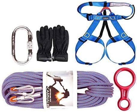 ロープセット、10.5 の mm の屋外の登山ロープ、家の火の脱出の救助の体操の登山ロープの救助セット10m