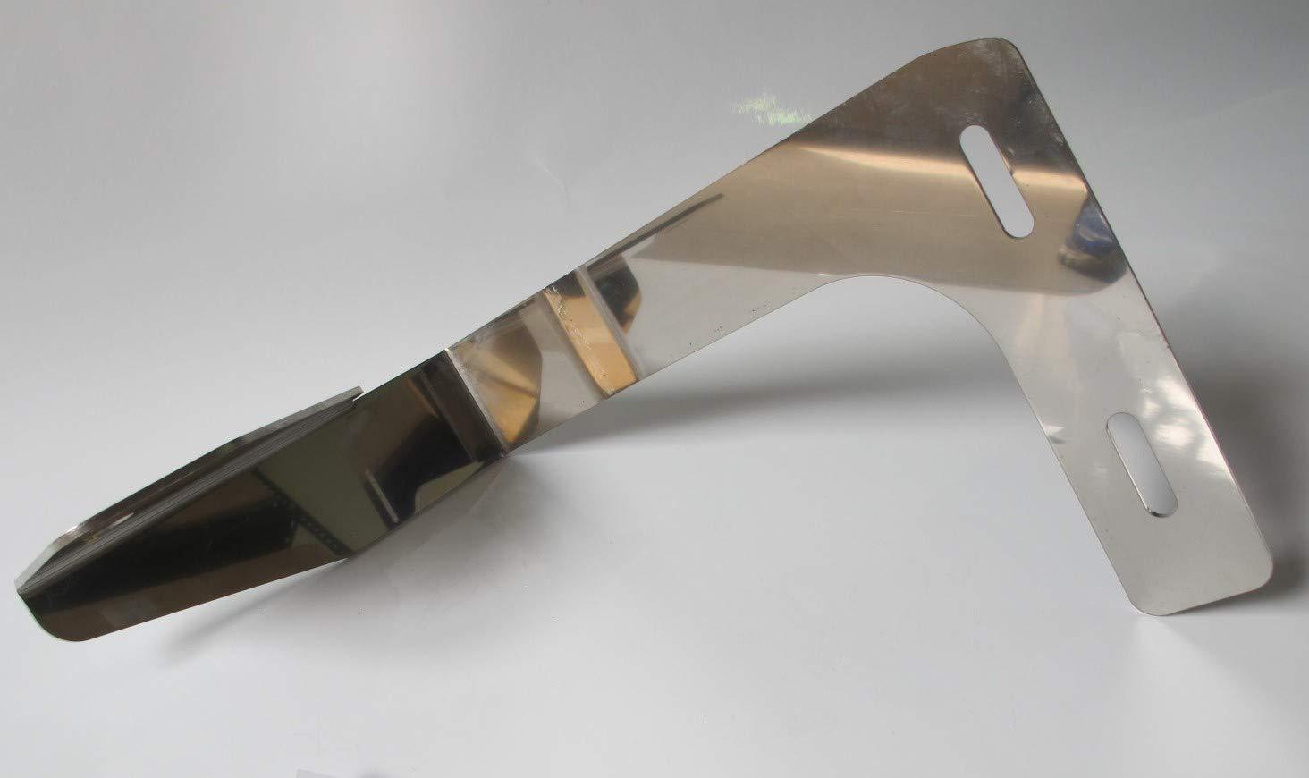 TRUCKDANET Accessorio in acciaio INOX per camion Man TGX parasole Staffa per antenna CB