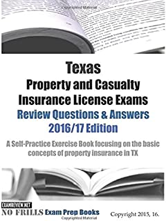 texas property and casualty insurance exam study guide testeachers rh amazon com Licensed Insurance Agent Insurance Agent