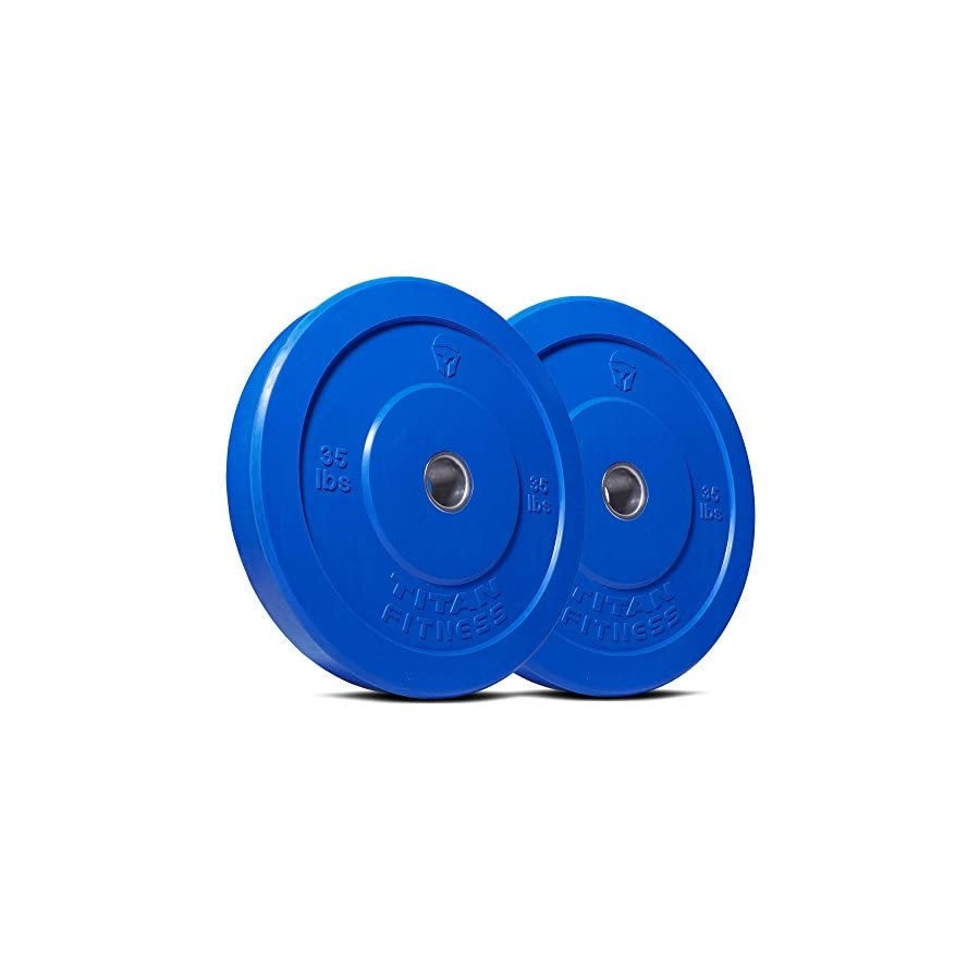 Titan 230 lb Set of Olympic Bumper Plates Benchpress Strength Training Power WOD