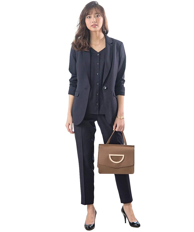 憤るセッティング適度に(ノーブランド品) 入学式 レディース スーツ スカートスーツ 9号 11号 13号 2スカートスーツ 3点セット 襟あり プリーツスカートと8枚はぎフレアースカート 胸当て付き 2色