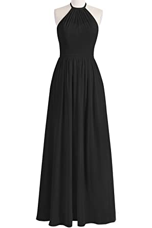 MittyDresses Women 2016 A-Line Sleeveless Long Prom Dresses Size 2 US Black
