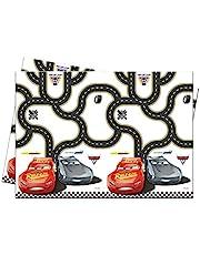 Procos 25873 87800 – bordsduk bilar 3, storlek 120 x 180 cm, tillverkad av plast, festdekoration, barnfödelsedag