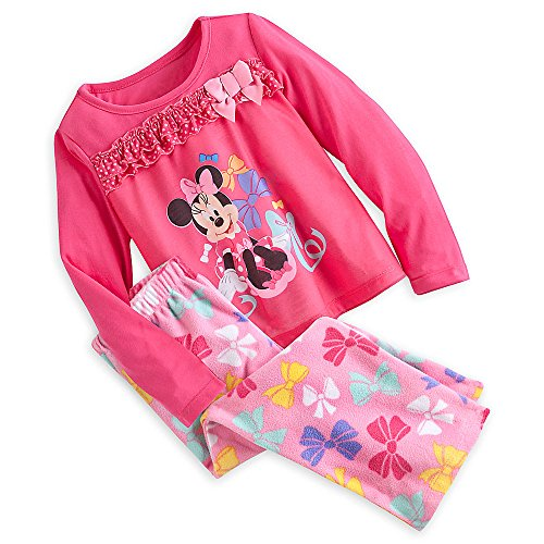 Disney Store Minnie Mouse Clubhouse Pajama Sleep Gift Set for Girls, Pink, Size 4 (Daisy Duck Outfits)