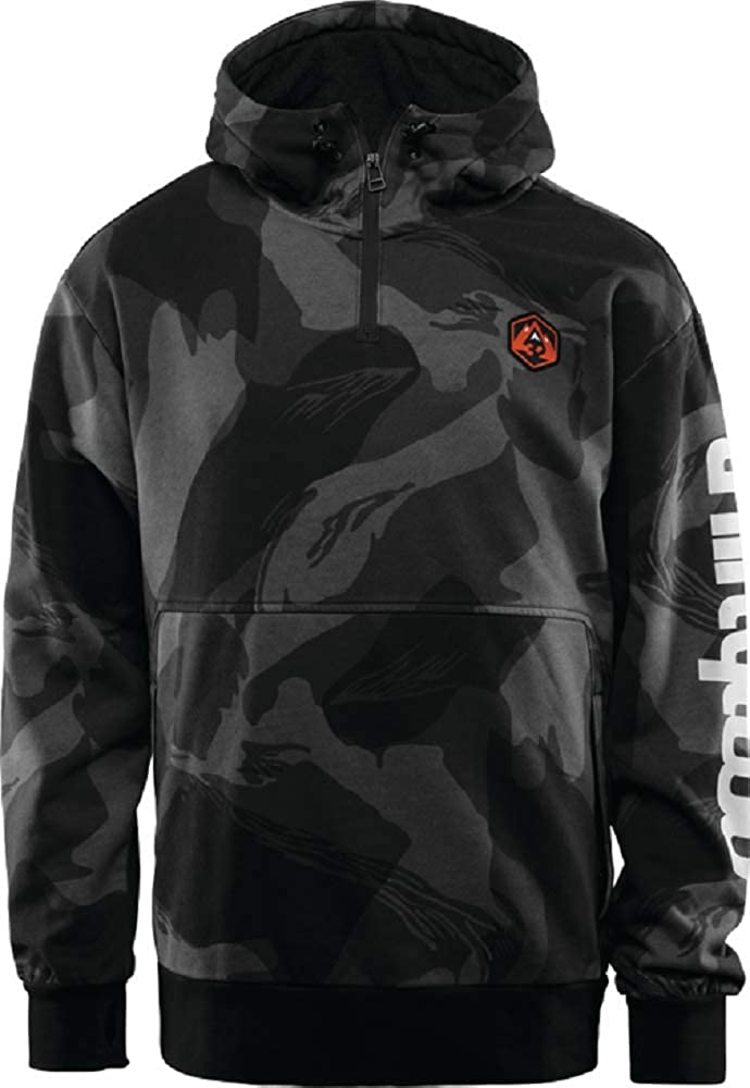 ThirtyTwo Stamped Hooded Pullover Black/CAMO Snow AI18