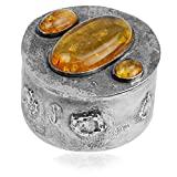 Best Amber by Graciana Friend Gifts On Sales - Sterling Silver Amber Graceful Jewelry Box Review