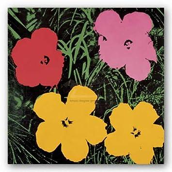 Amazon.com: Andy Warhol Flowers Red Pink Yellow 1964 Art Print ...