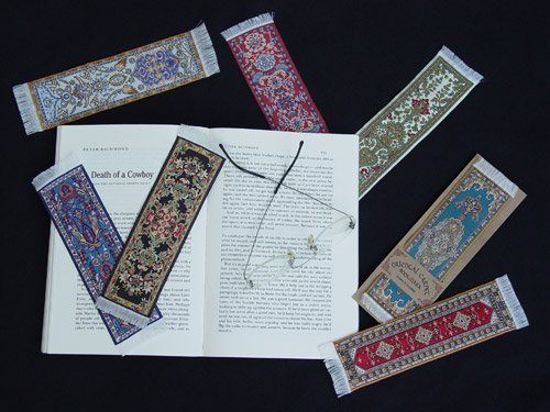 FOLIO by fun-n-nuf Bookmarks Red Tabriz Authentic Woven Oriental Carpet Photo #3