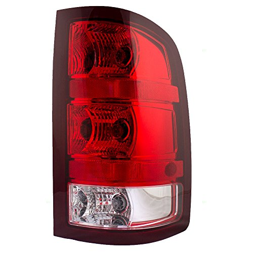 Taillight Tail Lamp Lens Passenger Replacement for 08-13 GMC Sierra Pickup Truck - Tail Gmc Light