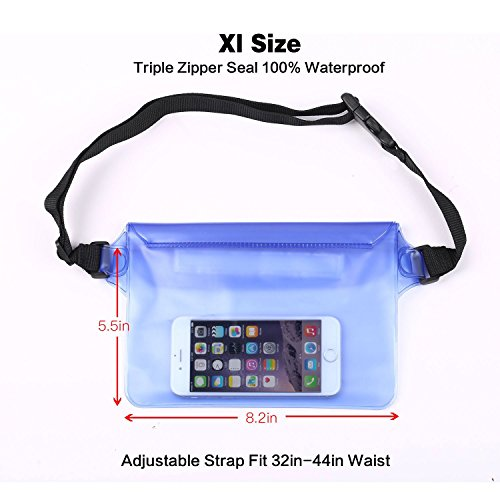 OTDR SUP Leash Coiled 10 foot Transparent Black with Bonus of String Cords and Waterproof Waist Pouch by OTDR (Image #3)