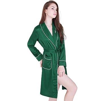 XQY Cómoda Pijama para el hogar Tienda de algodón con Bolsillos Albornoz - Inicio Ropa Ms