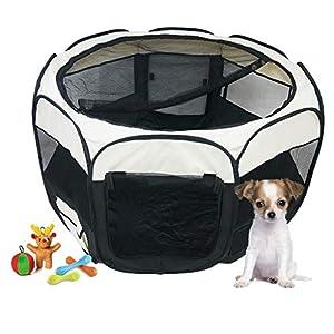 Todeco – Parque de Juegos para Mascotas, Parque para Animales Pequeños – Material: Poliéster recubierto de PVC…