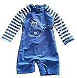 Newborn Infant Baby Boys Sunsuits Shark Swimwear UPF50+