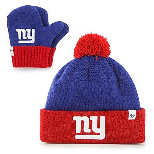 New York Giants Toddler Beanie   Mittens Set – Football Theme Hats 92f88569d31