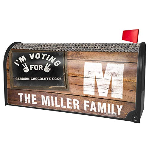 NEONBLOND Custom Mailbox Cover I'm Voting for German Chocolate Cake Funny Saying]()