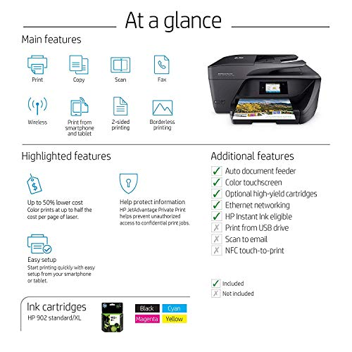 HP 6968 All-in-One Printer with Mobile Printing, Ink