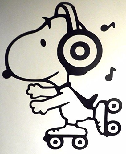 Snoopy Roller Skating The Peanuts Decal Vinyl Sticker|Cars T