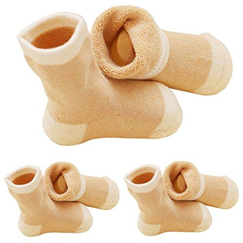In Walker Baby Costume (VWU 3-pack Baby Natural Organic Cotton Socks Brown)