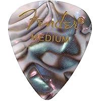 Fender 351 Shape Premium Picks (12 Pack) para guitarra eléctrica, guitarra acústica, mandolina y bajo