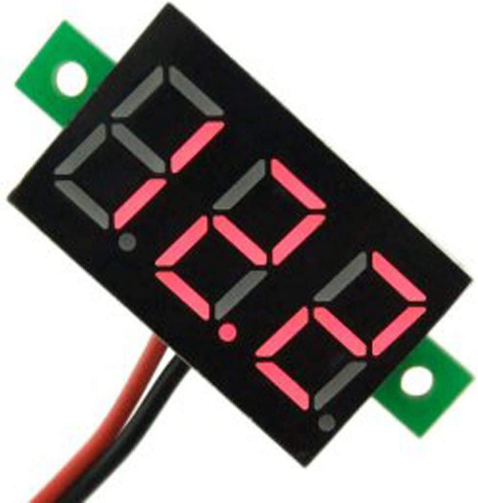 5Pcs Digital Display Voltage Gauge 0.36 LED Voltmeter DC2.7-32V Mini LED Digital Display Voltage Gauge High Accuracy Reverse Connection Protecting Function