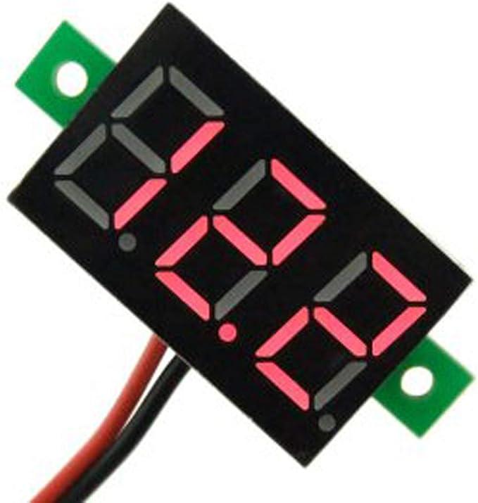 2-Wires Mini Dc 2.5-30V Voltmeter Led Panel 3-Digital Display Voltage Meter JD