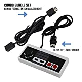 Mario Retro NES Classic Mini Edition Extra Controller With 6ft Extend Link Extension Cable For Nintendo Mini NES Classic Edition Version-Top Wired Joypad & Gamepads Controller With 1.8m Cable