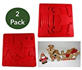 Black Stag Deluxe Silicone 2 mold set - Gingerbread Santa, Reindeer and Sleigh