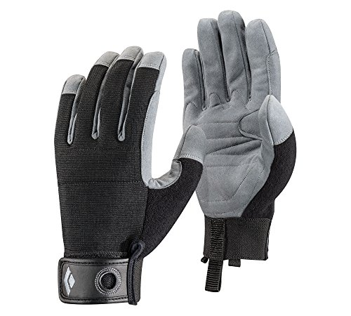 Rappelling Glove - Black Diamond Crag Climbing Gloves, Black, Large