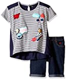 Limited Too Girls' 2 Piece Bermuda Short and Embellished T-Shirt Set