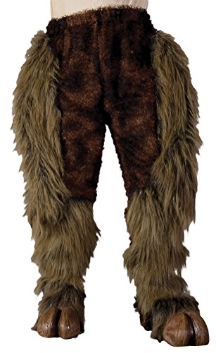 Zagone Studios Hairy Beast Legs Costume Bottoms - Brown (One Leg Man Halloween Costumes)