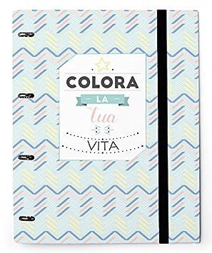 Grupo Erik Editores Carpeta 4 Anillas Troquelada Premium Amelie Ita: Amazon.es: Oficina y papelería
