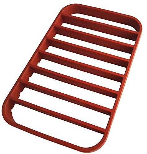 STAN BOUTIQUE Baking Rack for Sheet Pan - Roasting Rack | Cooking Rack - Oven Tray Rack - Nonstick Red Silicone