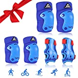 Kids Children Knee Pads Elbow Pads Wrist Guards SKL 3 in 1 Protective Gear Set for Inline Roller Skating Skateboarding Rollerblading Cycling Biking Scooter