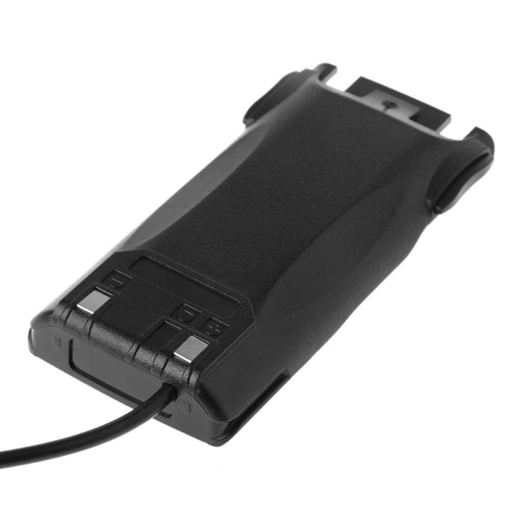 SEN Eliminatore di Batteria per Auto UV-82 per Baofeng UV82 UV-82L UV-8D UV-89 UV-82HP Nero