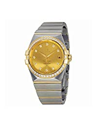 Omega Constellation Steel and 18kt Gold Diamond Ladies Watch 12325352058001