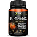 Turmeric Curcumin with BioPerine – 600 mg Organic Capsules with 95% Standardized Curcuminoids – Works on Pain Relief & Joint Support – Potent, Non-GMO & Gluten-Free – Made in USA