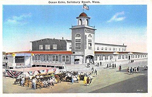 Salisbury Beach Massachusetts Ocean Echo Birdseye View Antique Postcard - Salisbury Stores In Md