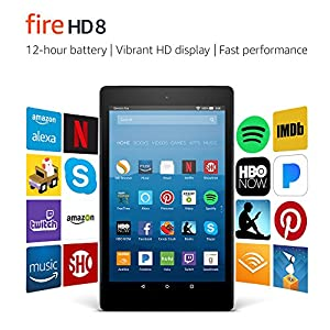 """Fire HD 8 tablet with Alexa, 8"""" HD monitor, 16 GB, black - offer special discounts (previous generation & ndash; 7th generation)"""