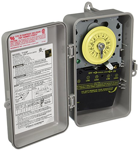 UPC 078275000223, Intermatic T103P Timer, 40A 125V DPST Heavy-Duty Electromechanical w/Type 3R Plastic Enclosure