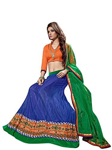 Vibes-Womens-Net-Un-Stitched-Party-Wear-Lehenga-Choli-Free-Size-Blue