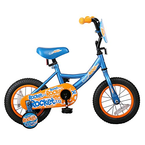 JOYSTAR 12 inch Kids Bike for Boys 2 3 4 5 Years, Toddler Bicycle with Training Wheels, Full Chain Guard, Back-pedalling ()