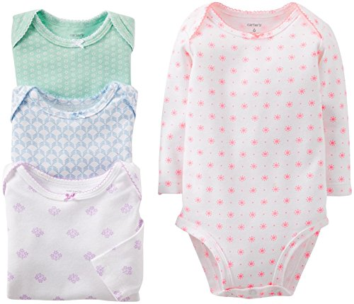 Carters Baby Girls 4 Pack Bodysuits