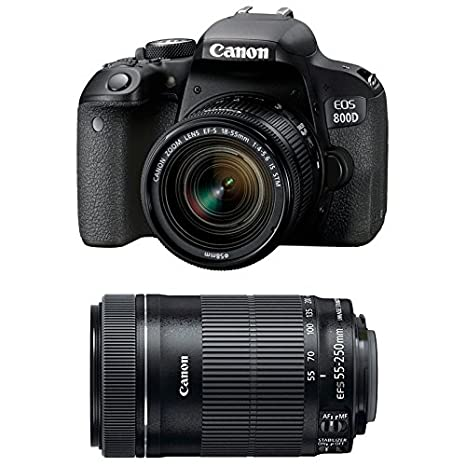 CANON EOS 800D + 18-55 IS STM + 55-250 IS STM: Amazon.es: Electrónica