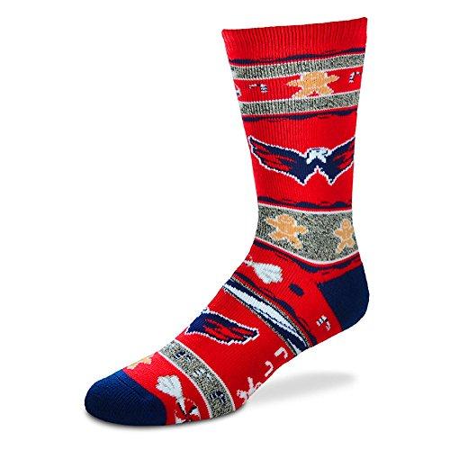 [For Bare Feet Washington Capitals Ugly Christmas Xmas Holiday Sports Socks] (Florida Themed Costumes)